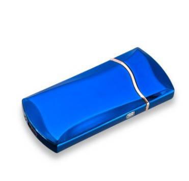 Электроимпульсная зажигалка SUNROZ F7 портативная электронная аккумуляторная USB зажигалка Синий, фото 2