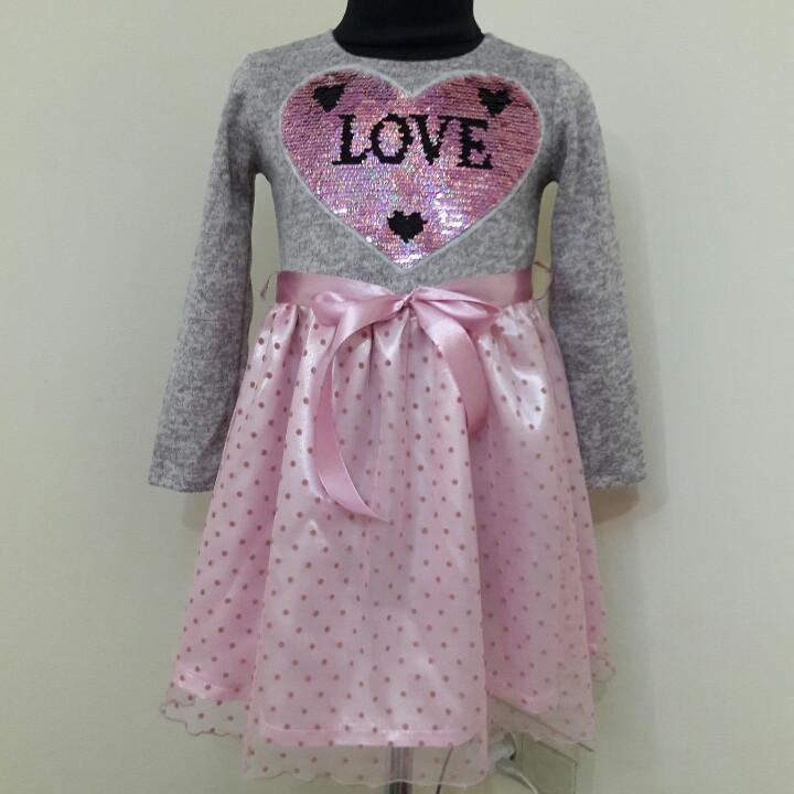 Теплое платье для девочки.