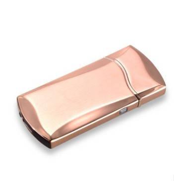 Электроимпульсная зажигалка SUNROZ F7 портативная электронная аккумуляторная USB зажигалка Золото, фото 2