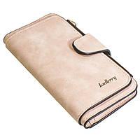✓Крутой женский кошелек Baellerry N2345 Розовый удобный для денег визиток кредитных карточек стильный
