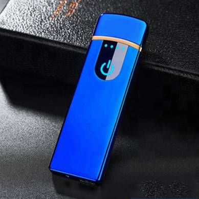 Электроимпульсная зажигалка SUNROZ TH-752 портативная электронная аккумуляторная USB зажигалка Синий, фото 2