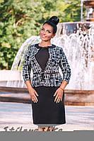 Платье с пиджаком большого размера черное