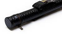 Тубус для кия с карманом на замке черный крокодил, фото 1
