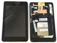 """Дисплей для Asus ME173X MeMO Pad HD7"""" (K00B) с тачскрином и рамкой черный Оригинал"""
