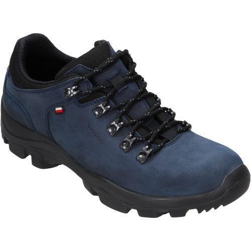 Мужские черные кроссовки осень-весна демисезон натуральная кожа WOJAS