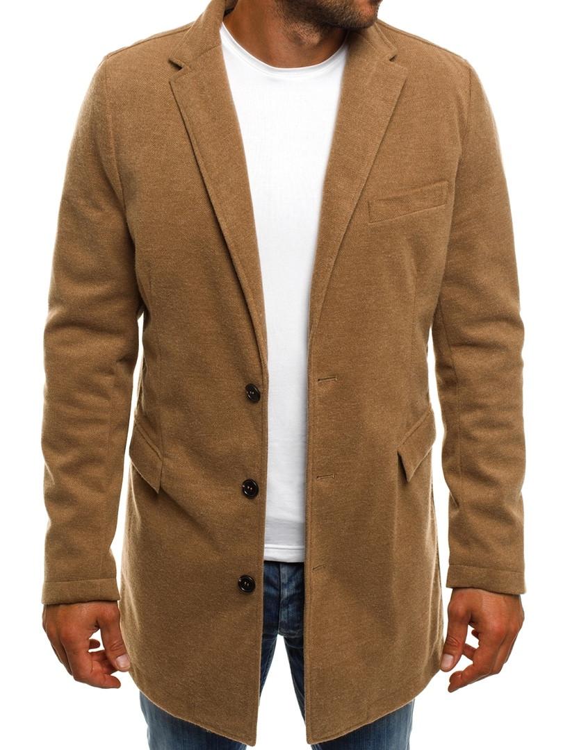 Пальто стильное мужское цвета карамели
