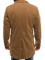 Пальто стильное мужское цвета карамели, фото 2