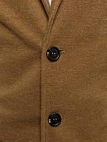 Пальто стильное мужское цвета карамели, фото 3