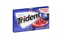 Жвачки Trident wild blueberry twist 14 sticks, фото 1