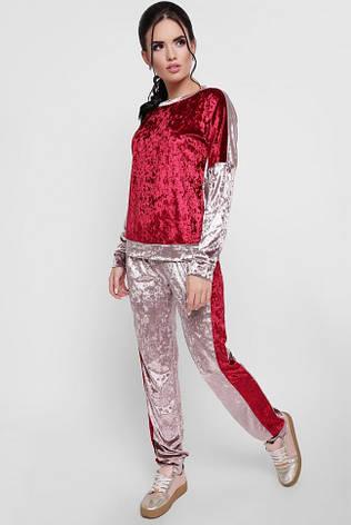 7e9b1760 Стильный женский велюровый спортивный костюм свитшот и брюки