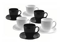 Чайный сервиз Luminarc Carine Black&White D2371 (220 мл, 12 пр.)