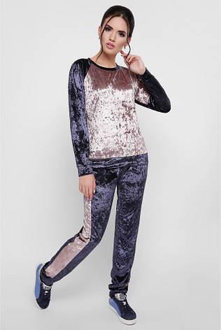 56468d5f Стильный женский велюровый спортивный костюм свитшот и брюки