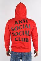 Красная толстовка принт assc paranoid | Худи Anti Social social club