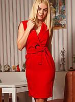 Женское платье на запах без рукавов (Дана mrb)