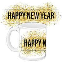 Кружка подарок с принтом Happy New Year (33217)