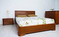 Деревянная кровать Милена с интарсией и механизмом 120х190 см. Аурель (Олимп), фото 1