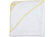 Детское полотенце уголок 80х80 с капюшоном для купания