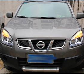 Передние фары LED тюнинг оптика Nissan Qashqai J10 (06-09) ксенон