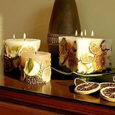 Свечи для новогоднего стола