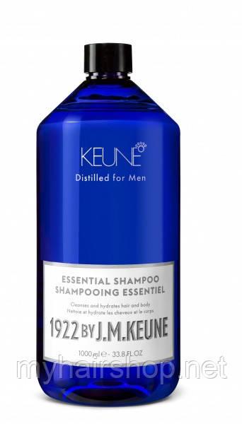 """Мужской шампунь """"Основной уход"""" KEUNE 1922 Essential Shampoo 1000 мл"""