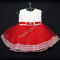 """Детское платье бальное """"Мини"""" (красный+белый) до 1года. Украина, фото 1"""