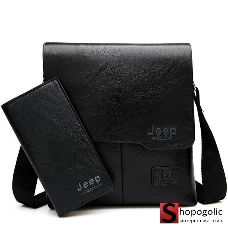 Мужская сумка- мессенджер Jeep Buluo в комплекте с портмоне