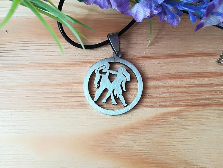Знак зодиака Близнецы из нержавеющей стали