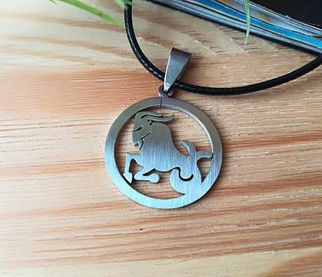 Знак зодиака Козерог из нержавеющей стали, фото 2
