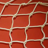 Сетка заградительная капроновая D 3,5 мм. Ячейка 4,5 см., оградительная, для спортзалов, стадионов., фото 1
