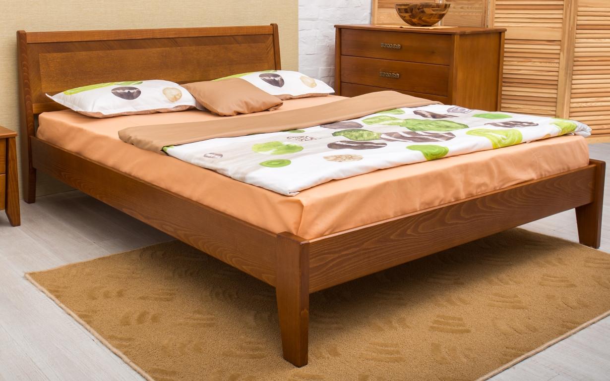 Деревянная кровать Сити без изножья с филенкой 120х190 см. Аурель (Олимп)