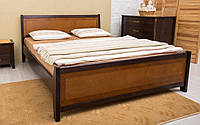 Деревянная кровать Сити с интарсией 120х190 см. Аурель (Олимп), фото 1