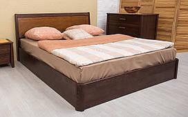 Деревянная кровать Сити с интарсией и механизмом 120х190 см. Аурель (Олимп)