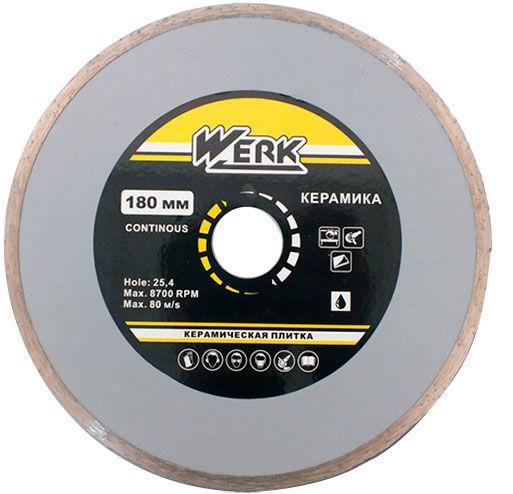 Алмазный диск Werk Ceramics 1A1R WE110122 (180x5x25.4 мм)