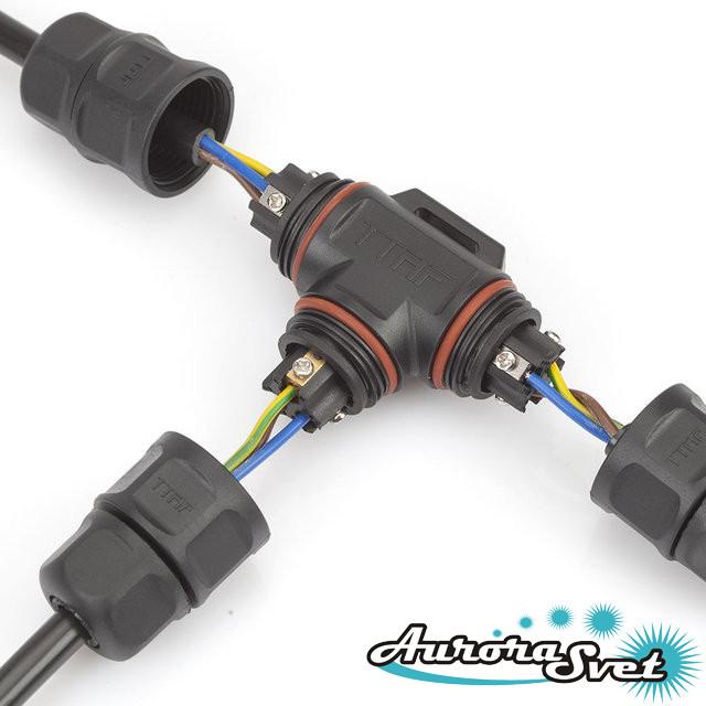 Водонепроницаемый электрический соединитель WPT 0303. Водостойкий разъём IP-68. Герметичный разъём.