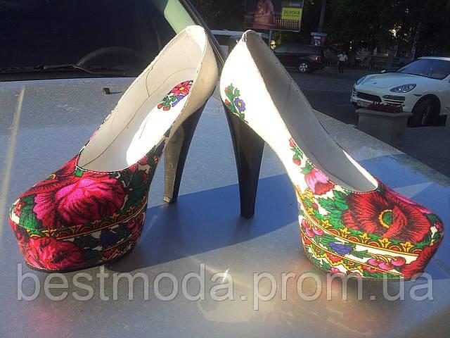 Туфли Love Couture.Матрешка на каблуке 14 см