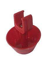 Пружинна маленька чашка для напування курчат на квадратну трубу