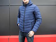 Мужская классическая зимняя куртка Pronto Navy, темно-синяя мужска куртка на зиму