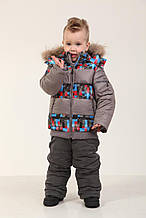 Комплект (куртка+ полукомбинезон) 76SERIYPRINT 98 см Серый