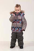 Комплект (куртка + полукомбинезон) 76SERIYPRINT 104 см Серый
