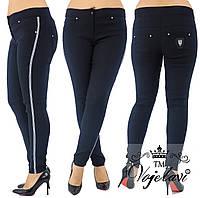 Лосины-джинсовые утепленные с репсовой лентой т.м. Vojelavi 1648G 54