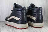Высокие зимние кроссовки в стиле Vans натуральная кожа, фото 3