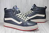 Высокие зимние кроссовки в стиле Vans натуральная кожа, фото 6