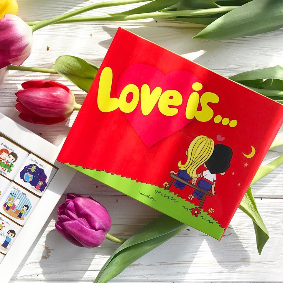 "Шоколадный набор ""Love is""  / Шоколадний набір"