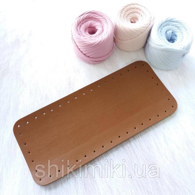 купить дно для сумки из эко кожи 2712 цвет коричневый в интернет магазине Shikimiki