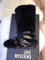 Женские сапоги лунаходы Love Moschino в интернет магазине женская обувь! Италия!натуральный мех