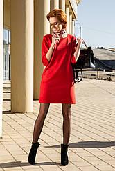 Женское замшевое платье с карманами