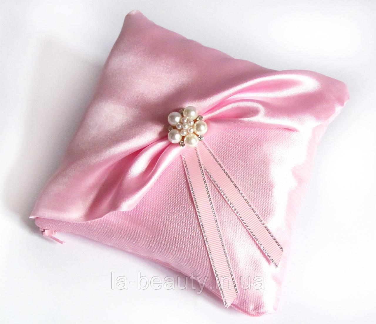 Свадебная подушечка для колец Розовая нежность