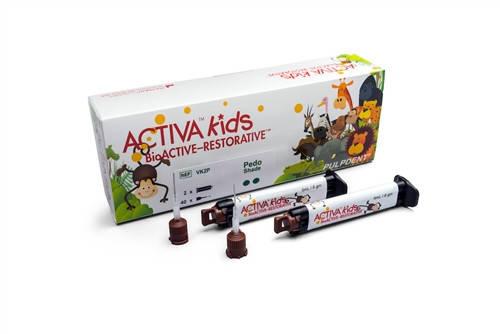 Біоцемент дитячий Activa Kids BioActive Opaque White (2х8г) PulpDent, фото 2