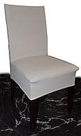 Плотные чехлы на стулья в молочного цвета, фото 1