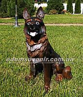 Садовая фигура собака Овчарка средняя, фото 1
